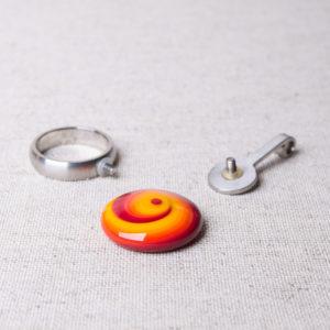 Basis für Wechselsystem, Ring oder Kettenanhänger